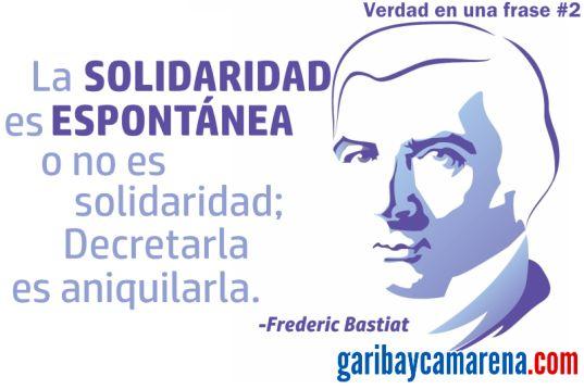 La solidaridad es una de las mayores riquezas que tenemos los seres humanos, porque implica la colaboración voluntaria para construir