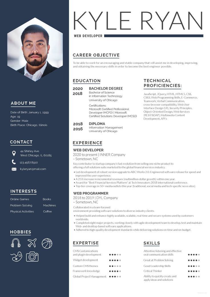 14+ Personal resume website template free download trends