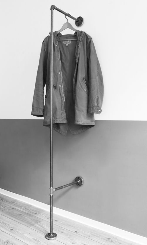 Fancy steelpipe wardrobe Stahlrohr Garderobe steelpipe Stahlrohr Kleiderstange Garderobe Hamburg Design