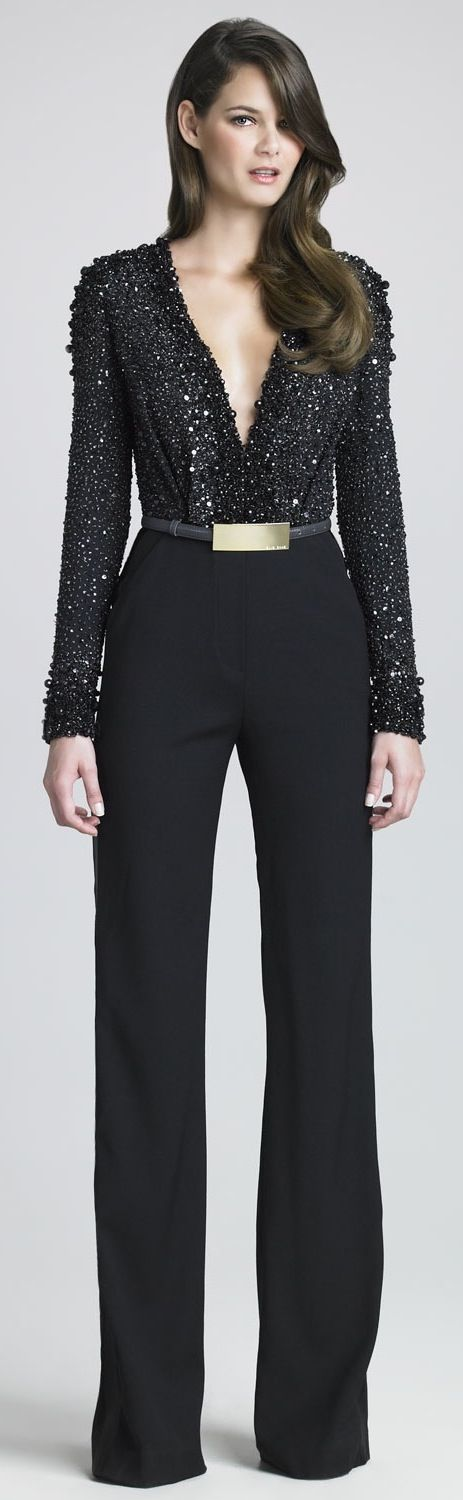 Elie Saab - But please do not wear your pants over your shoes (clearly high heels). It looks like a clown on stilts...