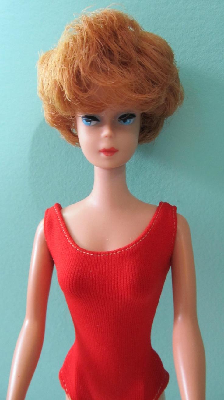 Vintage 1960s Barbie RED HEAD BUBBLECUT DOLL
