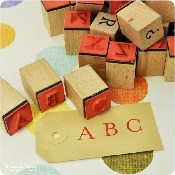 abc stempel i alphabet stempel i
