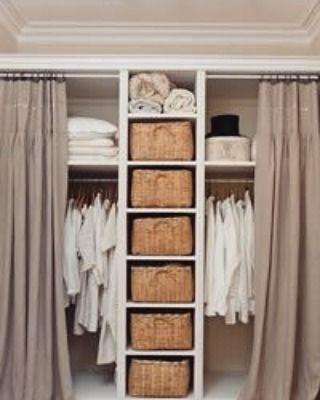"Love this idea for closet ""doors""! #barnandwillow #linenlove #inspiration #decordiva #drapes #interiordesign #homedecor #homedecoration #inspirational #love #photooftheday #beautiful #instadaily #decoration #decorationideas #homesweethome #design #home #house #interiordecor #interiorstyling #interior #interiors #instagood #instalove #homefashion #decorobsession"
