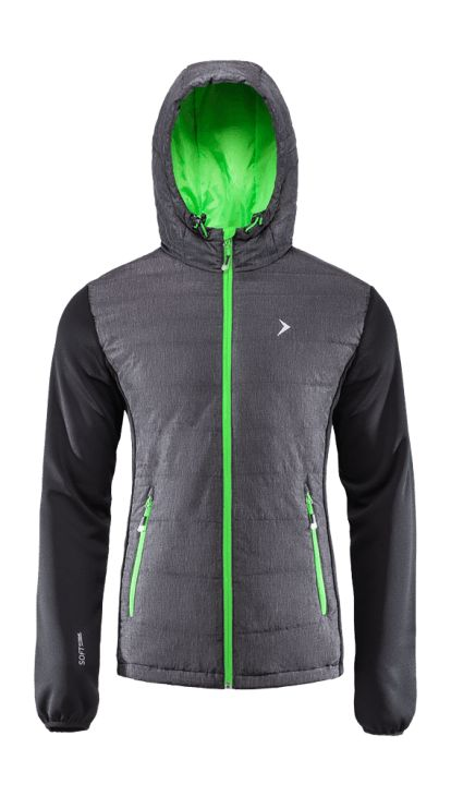 Jacket made of a two-layer breathable material where the inner layer is thermally active. Bionic Eco Finishing provides increased levels of breathability and moisture protection. Trendy colors and high functionality make the jacket ideal for both hiking in the mountains and going out with friends.   Benefits: -two side pockets -integrated hood which protects from the cold -additional softshell fabric -inner wallet pocket -reflective elements, increasing visibility