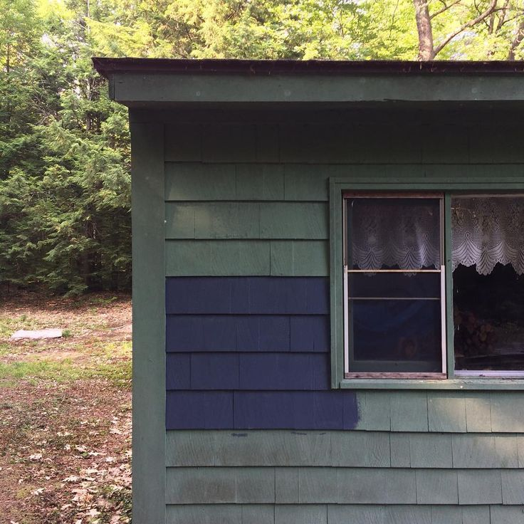 We are going with this paint color for the cabin sherwin - Sherwin williams outerspace exterior ...