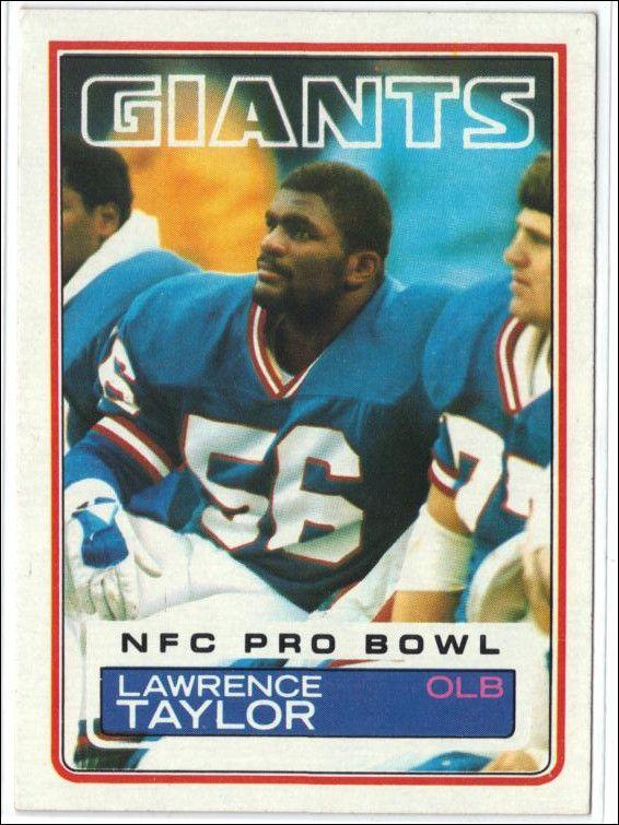 "1983 Topps #133 Lawrence Taylor, LB, NY Giants HOF NM NFL ~ NICE ""LT"" CARD !"