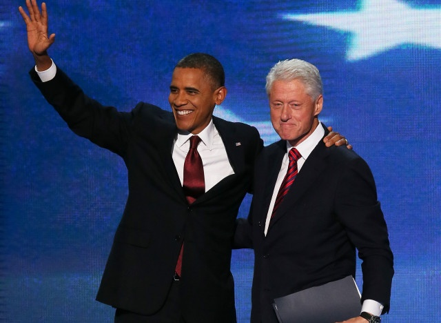 Bill Clinton gave a rousing speech at the Democratic Convention last night, defending Barack Obama's leadership as the president was nominated for a second term. Countering Mitt Romney's criticisms of Obama, he insisted that a vote for the Republicans would plunge the country back into a recession. No one, even Obama, could fix the economic mess the Republicans left in just four years, he argued.