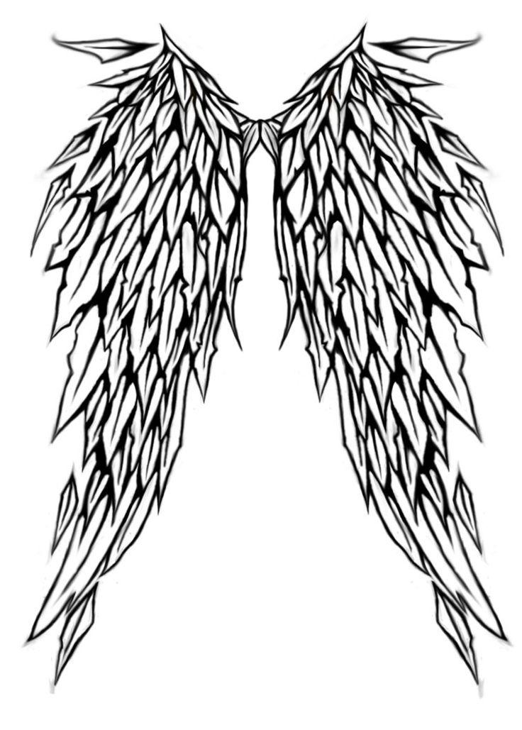 Крыло ангела татуировки Дизайн littlenatnatz101