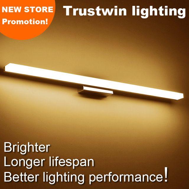 Nova promoção da loja estilo moderno montado na parede LEVOU lâmpada de parede espelho do banheiro luz