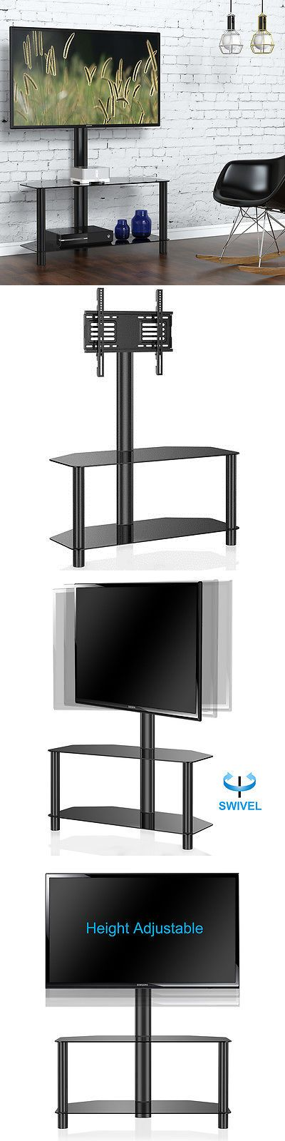 units tv stands fitueyes swivel lcd tv media center stand with mount shelf fits - Tv Mount With Shelf