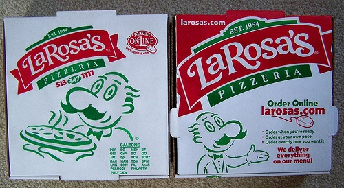 LaROSA'S PIZZA with LUIGI LaROSA - our boxes don't look like that anymore