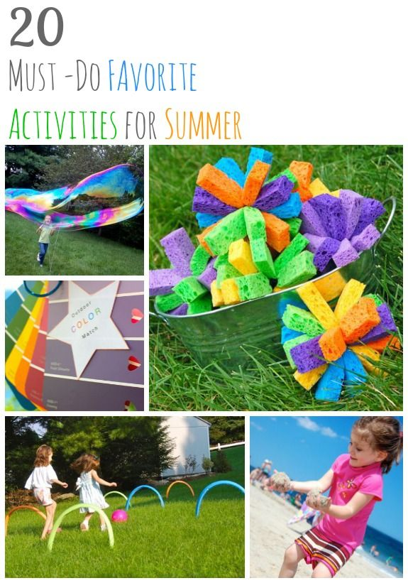 20 Must-Do Favorite Activities for Summer