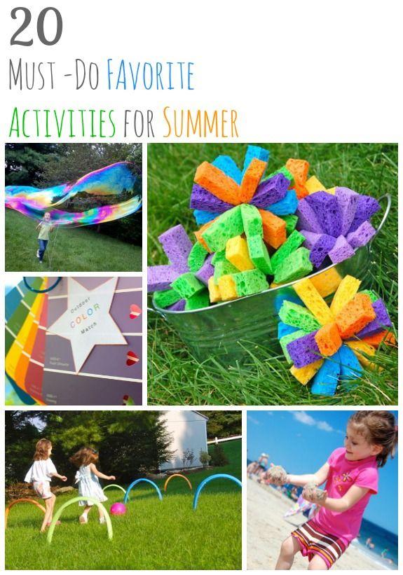20 Must-Do Favorite Activities for Summer