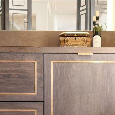 Brass inlay A beautiful cabinet detail  Home Inspiration  Interior design inspiration