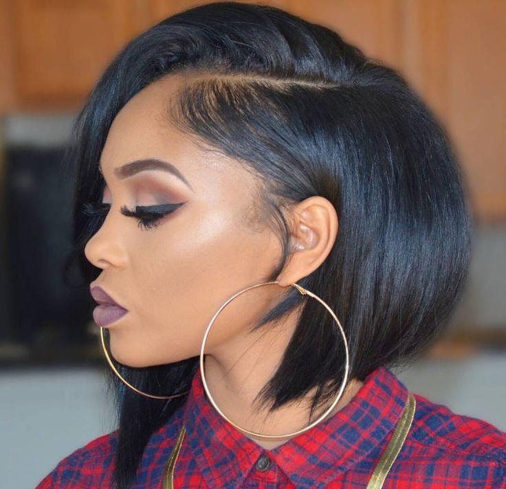 Stupendous 1000 Ideas About Short Black Hairstyles On Pinterest Straight Hairstyles For Women Draintrainus