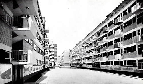 Colonia Sobre la Calzada de Tlalpan, México DF, 1957: Mexico City, On, Yellow White, Colonia Sobre, White Black, De Tlalpan
