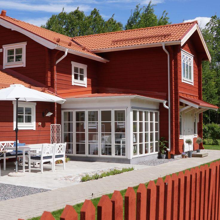 Timmerhus, Forsgrens Timmerhus, Falu rödfärg, Dalarna, vackra hus, beautiful houses, Sverige, Sweden, bygga nytt, sommar, timber, log house