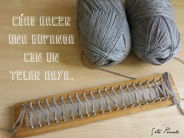 DIY: cómo hacer una bufanda con el telar maya | Aprender manualidades es facilisimo.com
