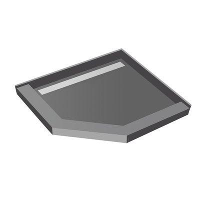 "Tile Redi Neo Angle Shower Pan Size: 5.75"" H x 40"" W x 40"" D"
