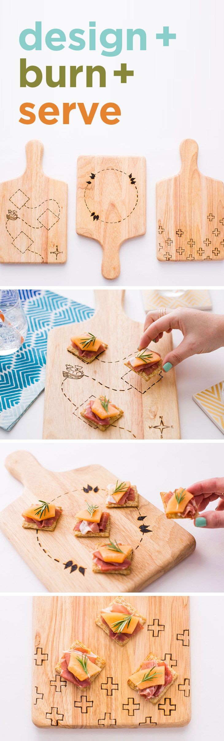 Design your perfect party platter with this DIY kit from Brit+Co. Don't forget to top it with your favorite Triscuit combination.