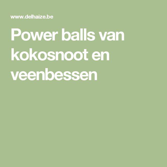 Power balls van kokosnoot en veenbessen