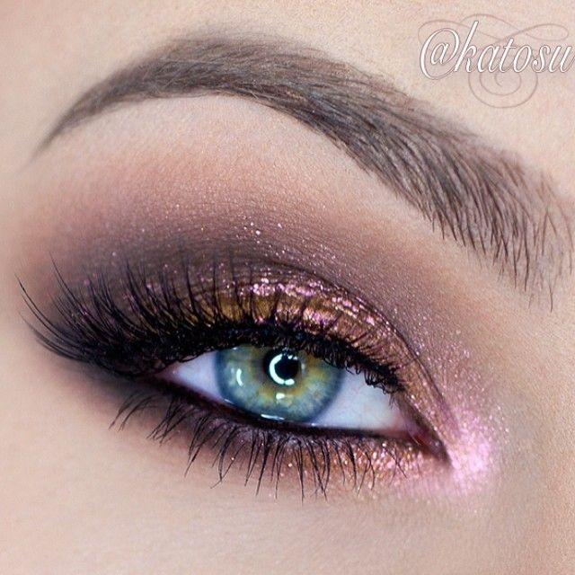 Pink glitter eye makeup-8995
