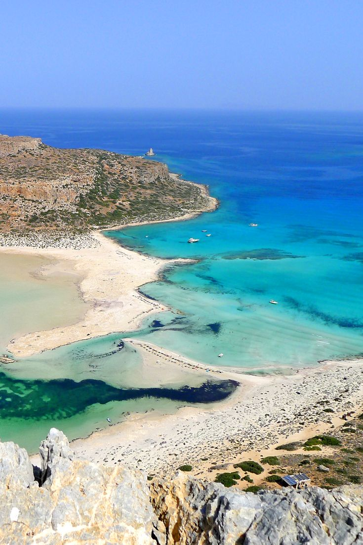 b8c4d143e169 Panoramic view of the unique famous Balos Lagoon in Crete!  crete  chania   balos  sea  beach  holidays  island  travel