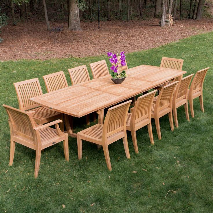 Veranda Laguna Premium Teak Furniture Set for 12. Best 25  Outdoor furniture set ideas on Pinterest   Rustic outdoor