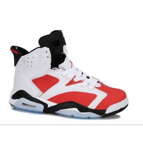 Air Jordan Retro 6 Gs White Black Carmine