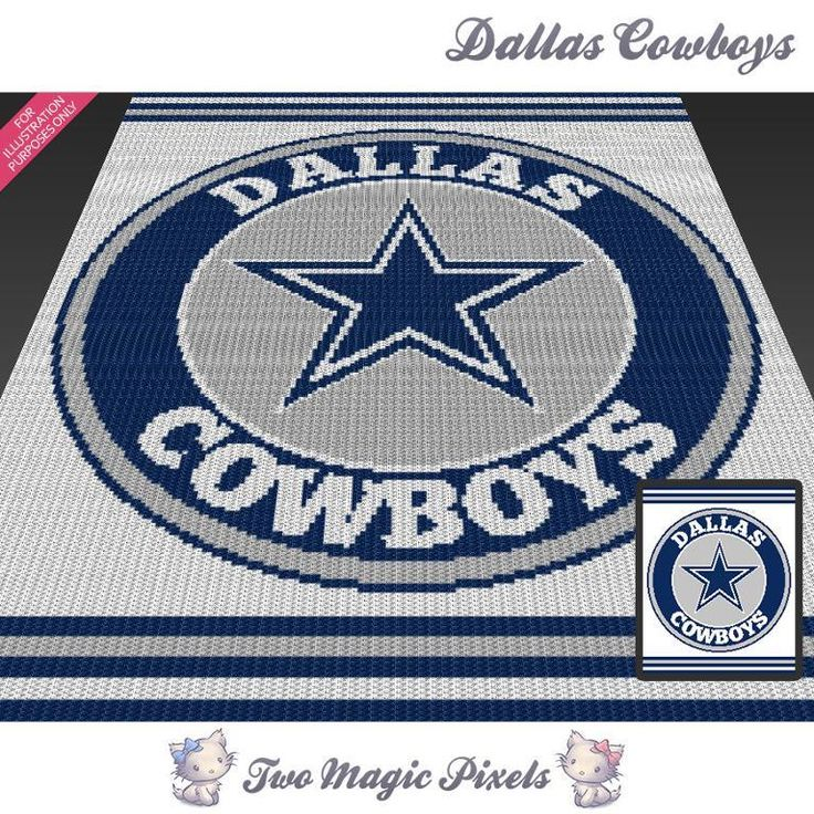 Looking for your next project? You're going to love Dallas Cowboys c2c graph crochet pattern by designer TwoMagicPixels.
