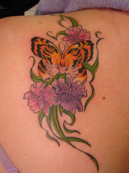 Butterfly tiger tattoos designs | Best Tattoo design Ideas
