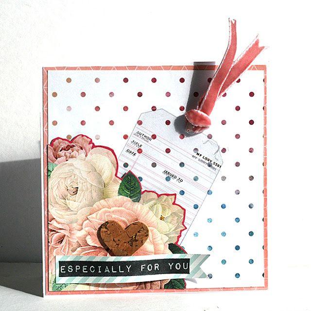 mitt kreativa kaos: Kort med Pink Paislee C'est La Vie och Kaisercraft #Me