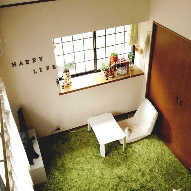 高校生の部屋/NO GREEN NO LIFE/TV/出窓/植物/文字…などのインテリア実例 - 2014-03-22 18:36:34 | RoomClip(ルームクリップ)