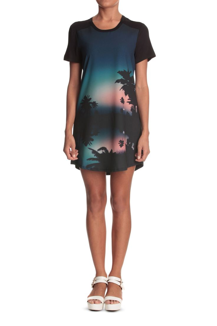 Material World - Sunset Printed T-shirt Dress