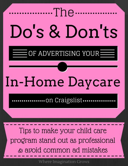 Advertising your family home child care program. Don't forget to use your local Child Care Resource & Referral office. They are there to help and refer you out to families. #childcare