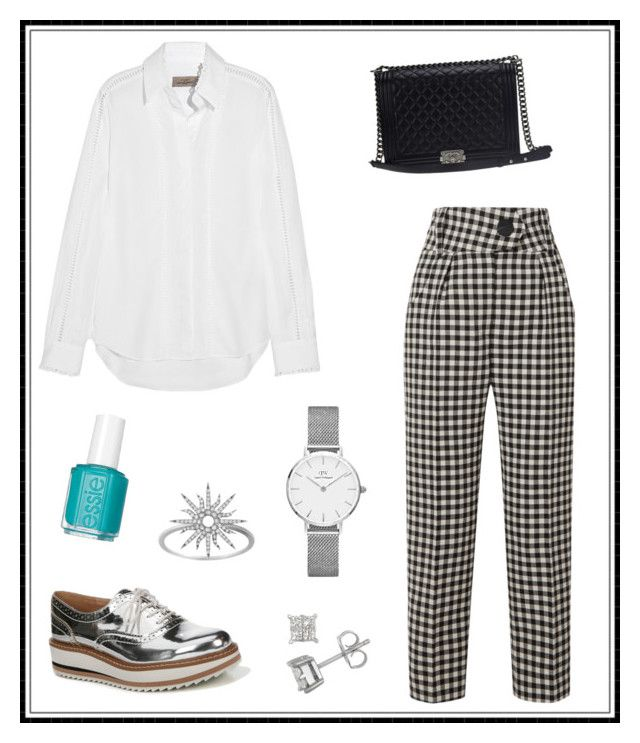 """#164"" by e-elmedal on Polyvore featuring Petar Petrov, Preen, Sam Edelman, Chanel, Christina Debs and Essie"