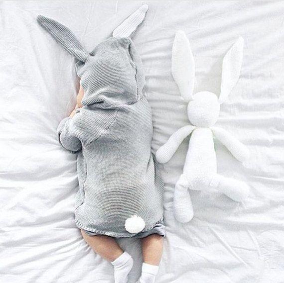 Grau-Bunny-Jumper für Babys und Kleinkinder