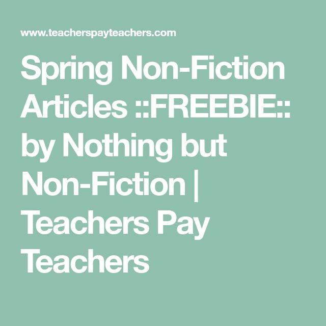 Spring Non-Fiction Articles ::FREEBIE:: by Nothing but Non-Fiction | Teachers Pay Teachers