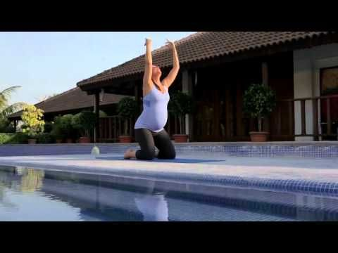 ▶ Prenatal Yoga with Lara Dutta Routine - YouTube