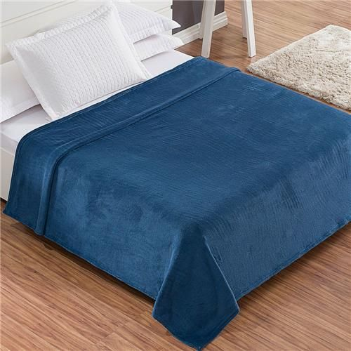 Cobertor / Manta Casal Azul Petróleo