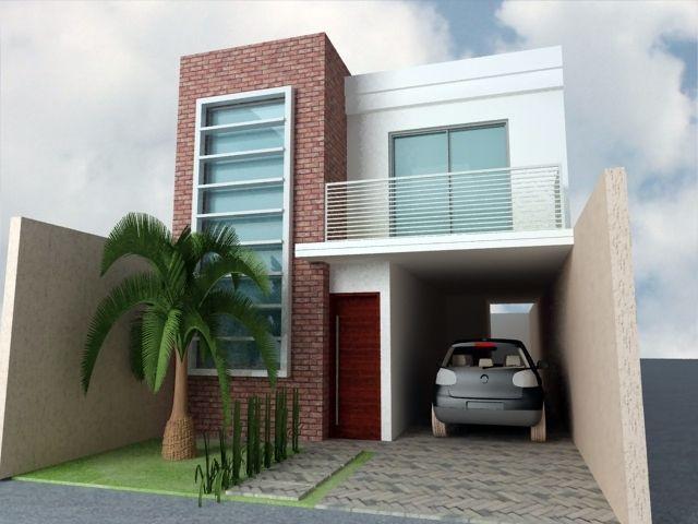 Veja alguns modelos de fachadas de casas pequenas e modernas. Use sua criatividade para decorar e criar modelos diferenciados com pedras, madeira e mais.