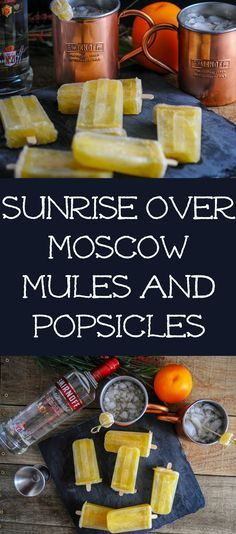 Sunrise over Moscow Mules and Popsicles  #sponsored Smirnoff, vodka, orange juice, lime juice, cocktail, copper mugs, ice pops, icepops, ginger beer, recipe, drink, easy, party