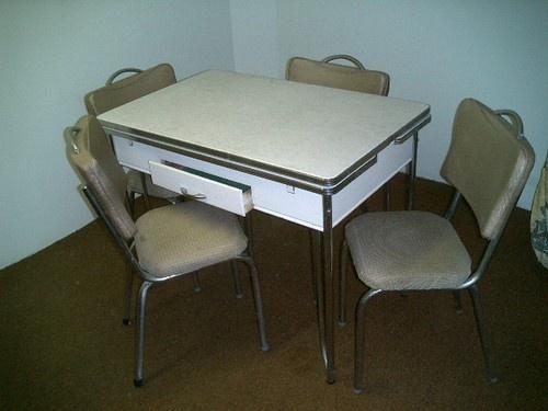 Vintage 1950 39 s kitchen table dinette chrome formica growing up we and vintage - Formica top kitchen table ...