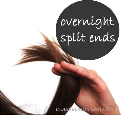 Mix coconut oil and vitamin E oil together in a bowl. Warm the oil in a microwave for 30 sec. Apply the warm oil to the ends of your hair and wash it in the morning. Treat and prevent split ends.