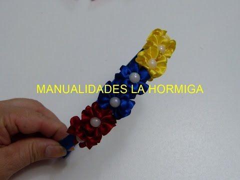 Como hacer Diadema Tejida Nudos Ysabel Pap, # 516, Vinchas doble color trenzadas variedad tejido - YouTube
