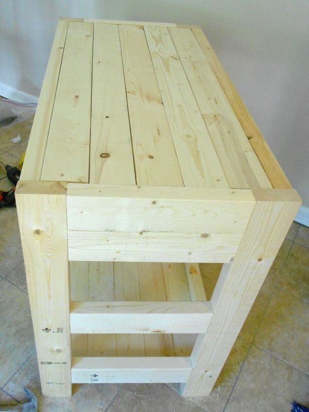 30 kitchen island made with 2x4s, diy, how to, kitchen design, kitchen island, woodworking projects
