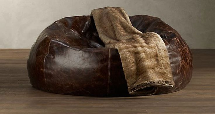 Man Cave Grand Leather Bean Bag Chair -Fuel'd Magazine has the best gadgets for men. All the cool stuff for guys.