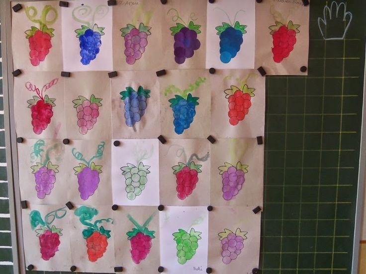 """Játékos tanulás és kreativitás: Érik a szőlő...- """"szüret"""" kreatívan"""