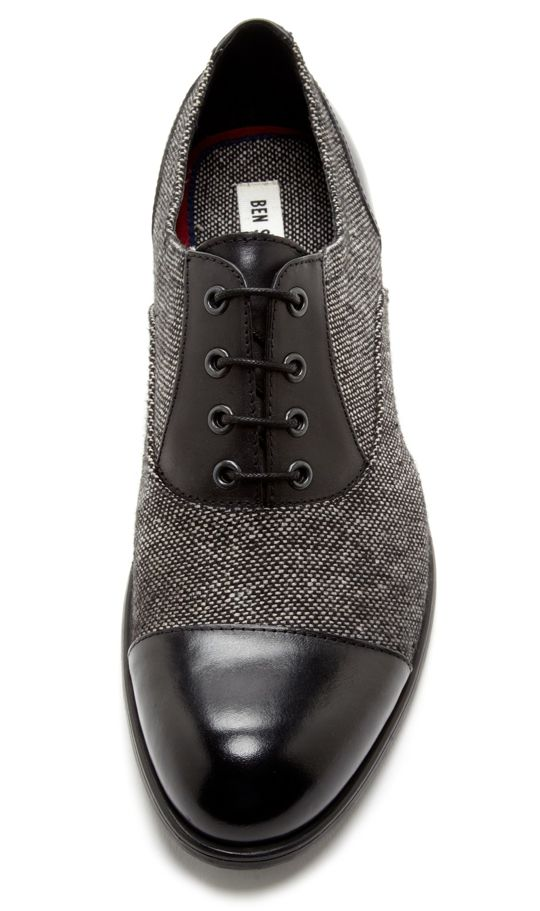 Tweed / Leather Oxfords by Ben Sherman