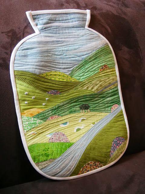 Beautiful DIY Landscape Hot Water Bottle Cover